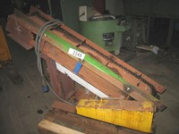 Metallic belt steep conveyor for swarf