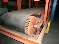 2 special discharging belts, 3350 mm x 780 mm