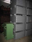 Stacking containers M11-5, 1200 mm x 1000 mm x 650 mm, painted  RAL7005