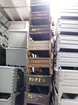 Stacking containers SAMETO, 945 mm x 640 mm x 250 mm