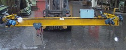 Small overhead crane, 2t, centre distance 3830 mm